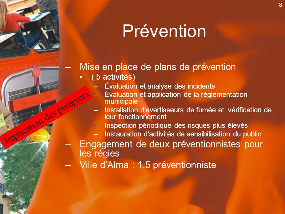Prévention Mise en place de plans de prévention