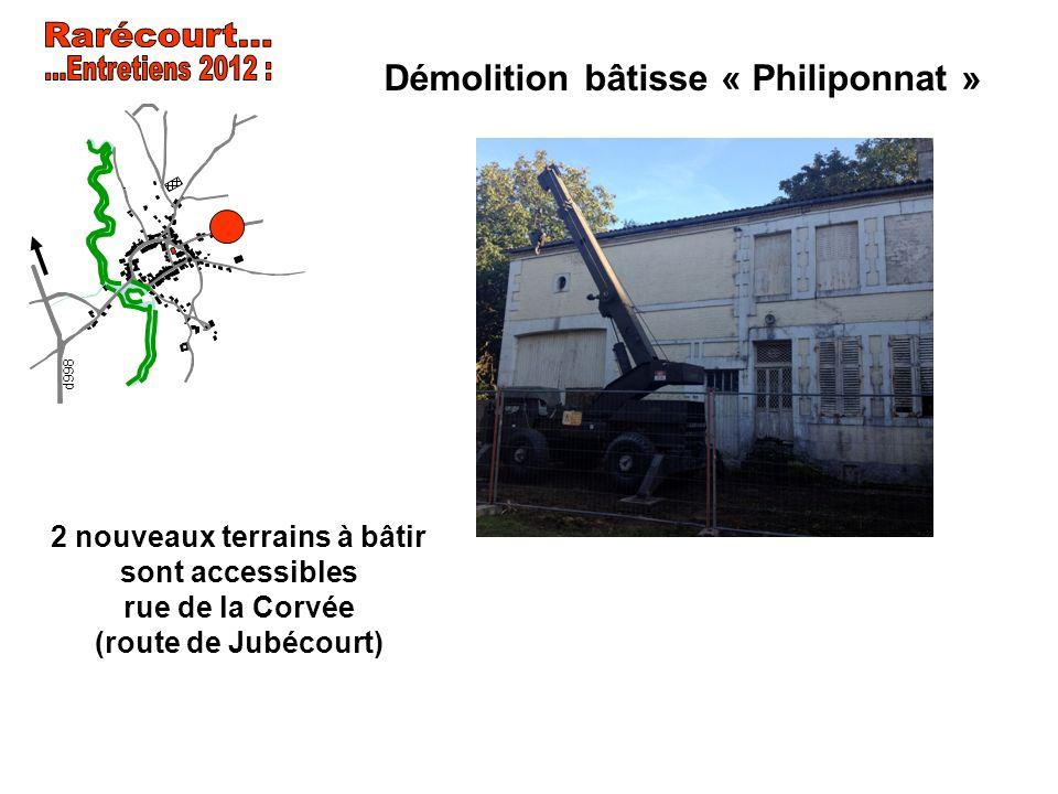 Démolition bâtisse « Philiponnat »
