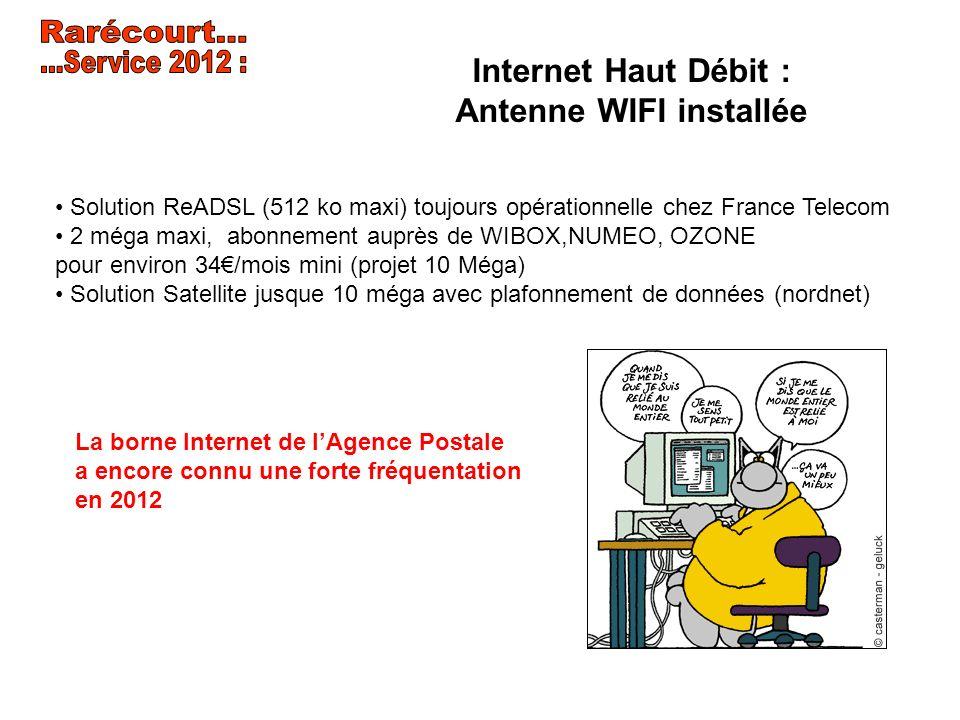 Internet Haut Débit : Antenne WIFI installée