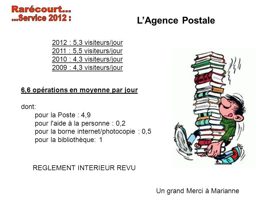 Rarécourt... ...Service 2012 : L'Agence Postale