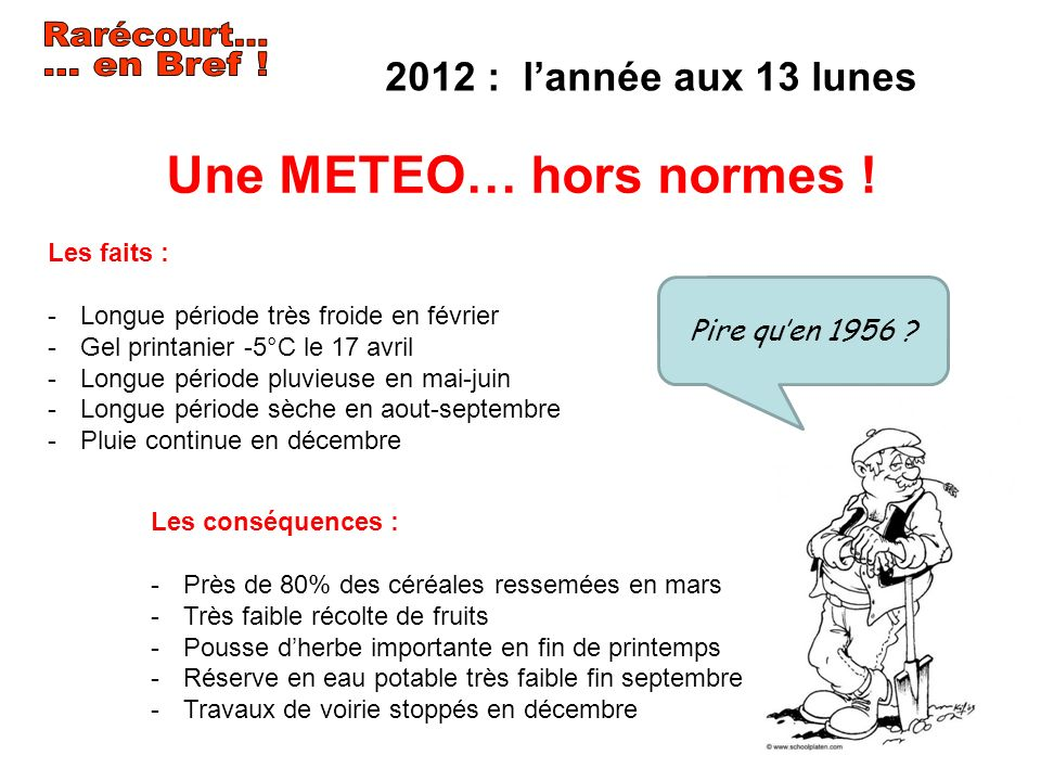 Rarécourt... … en Bref ! Une METEO… hors normes !