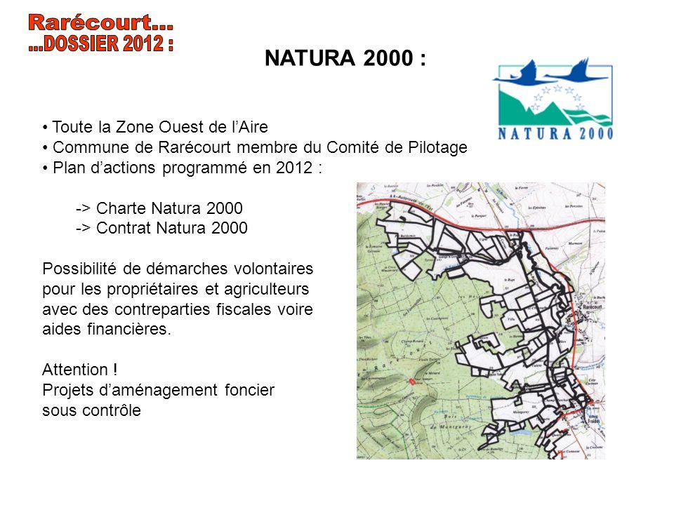 Rarécourt... ...DOSSIER 2012 : NATURA 2000 :