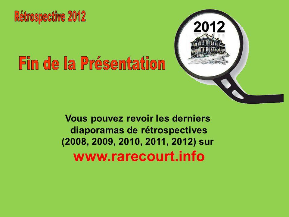 2 Rétrospective 2012 Fin de la Présentation