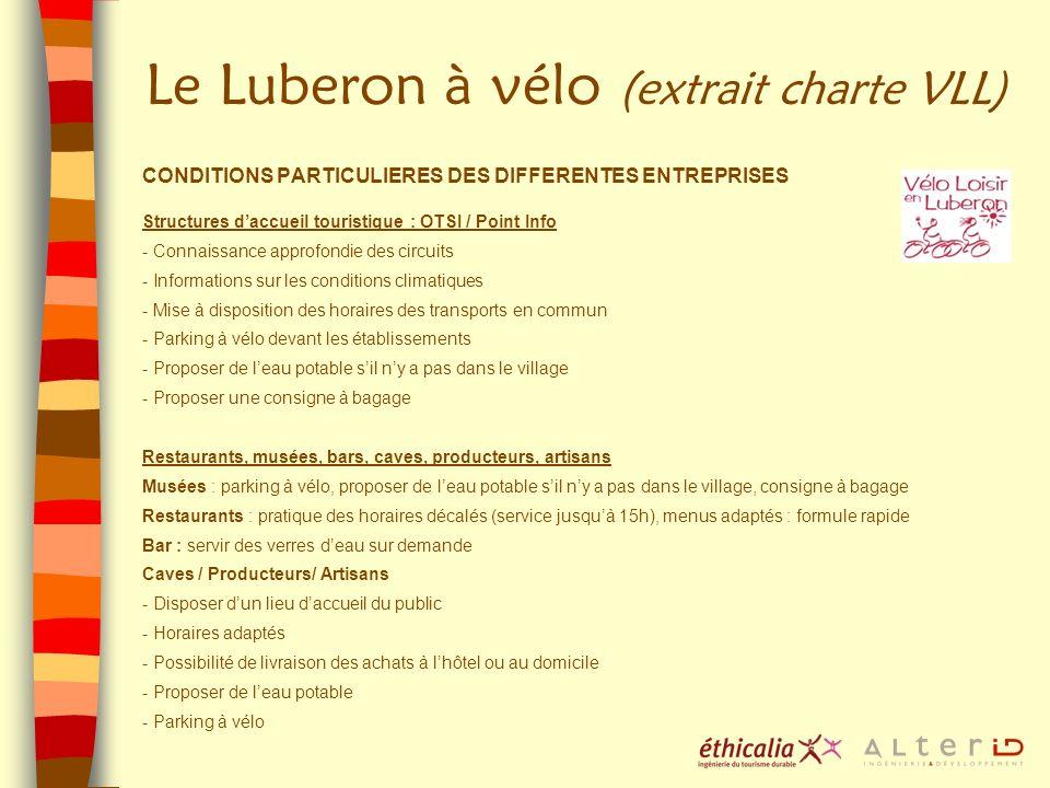 Le Luberon à vélo (extrait charte VLL)