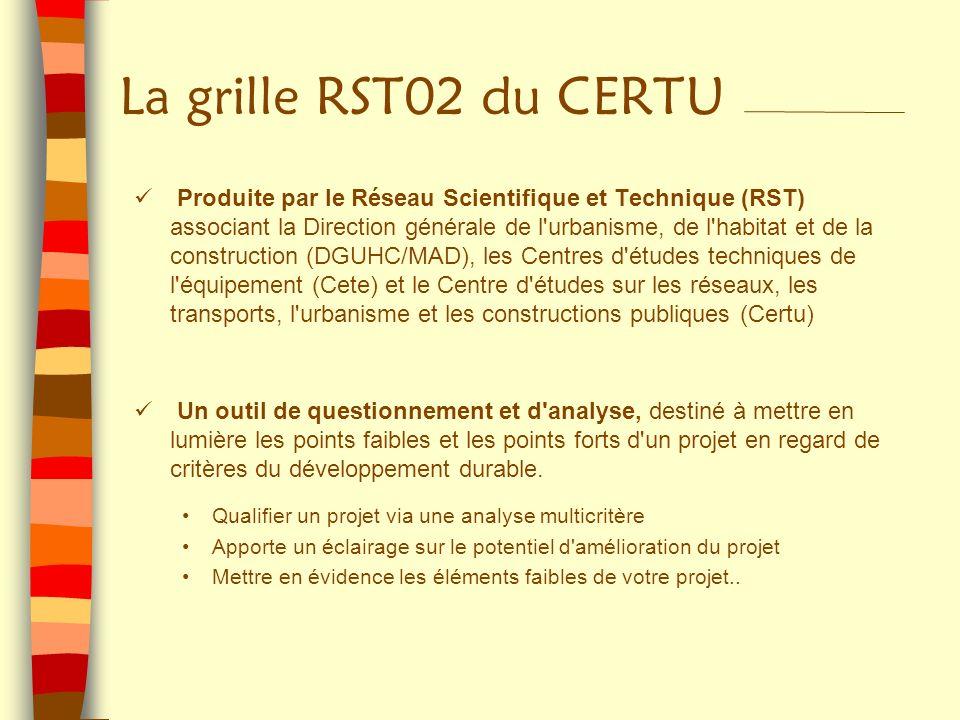 La grille RST02 du CERTU