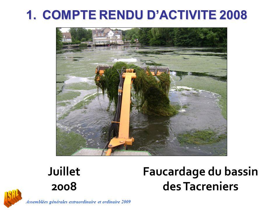 Faucardage du bassin des Tacreniers