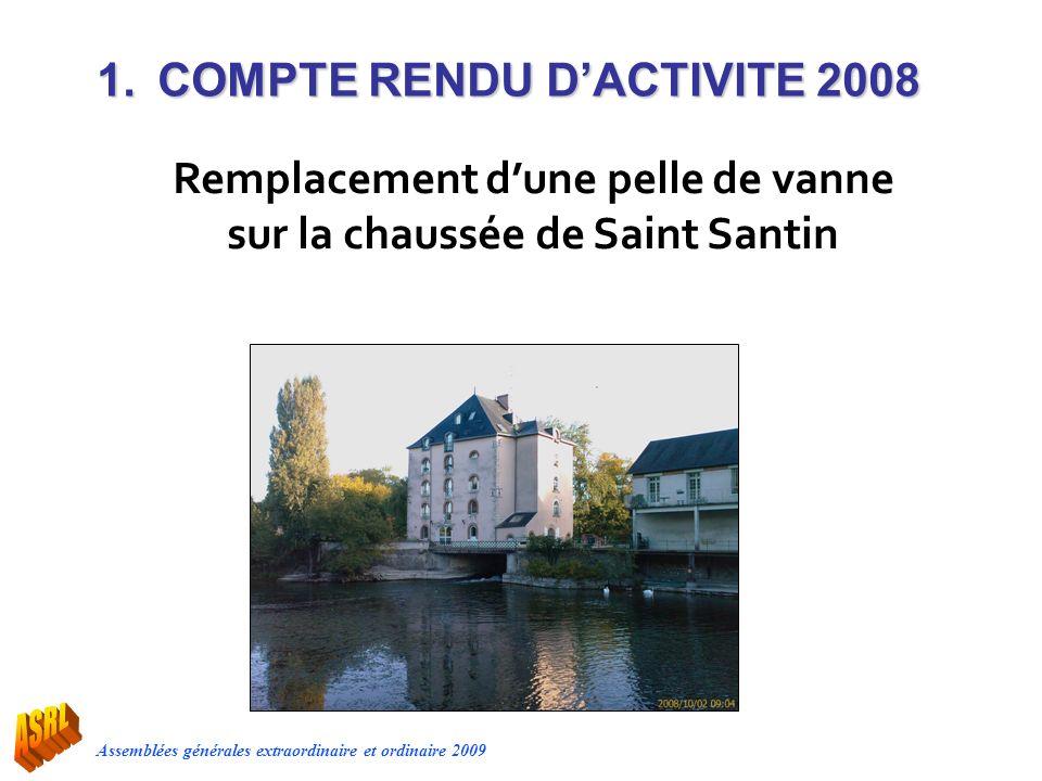 Remplacement d'une pelle de vanne sur la chaussée de Saint Santin