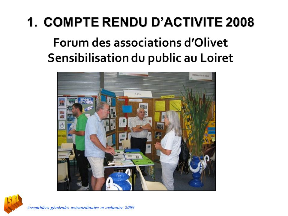 Forum des associations d'Olivet Sensibilisation du public au Loiret