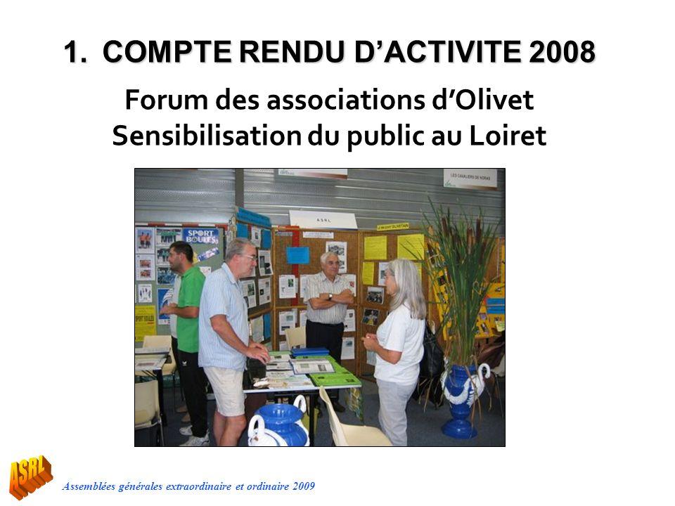 Forum des associations d'Olivet Sensibilisation du public au Loiret