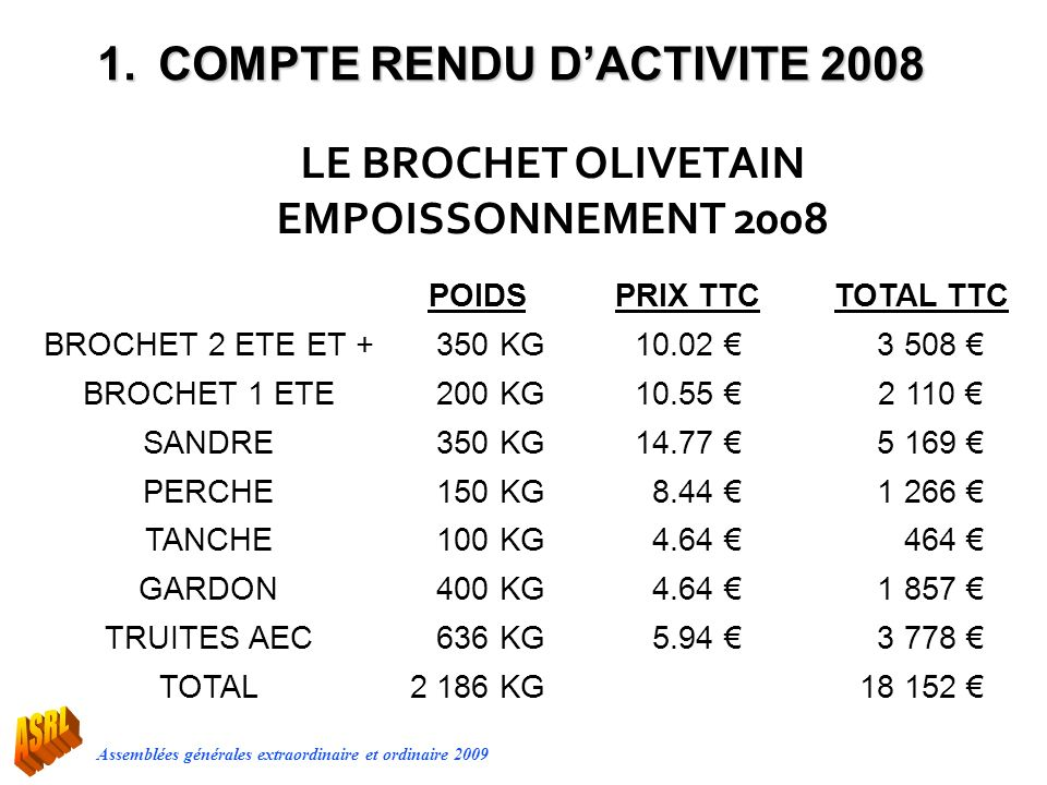 LE BROCHET OLIVETAIN EMPOISSONNEMENT 2008