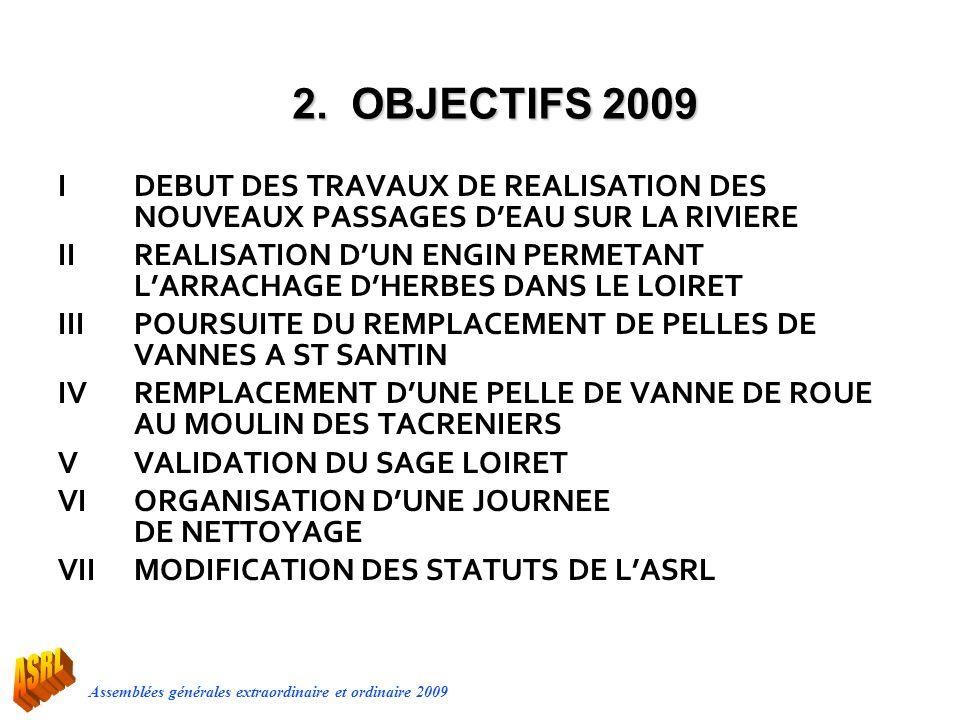 2. OBJECTIFS 2009