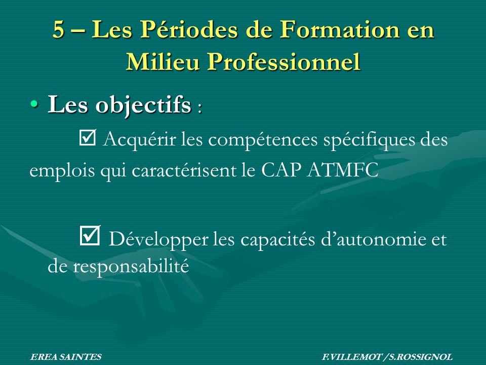 5 – Les Périodes de Formation en Milieu Professionnel