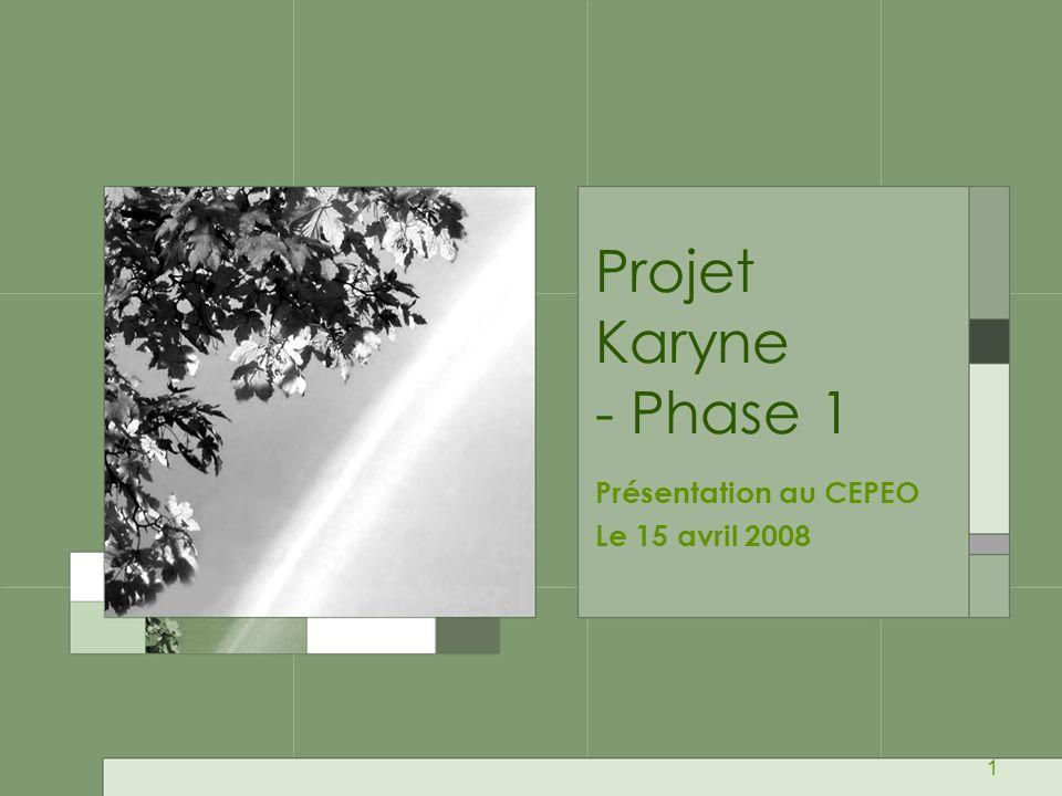 Présentation au CEPEO Le 15 avril 2008