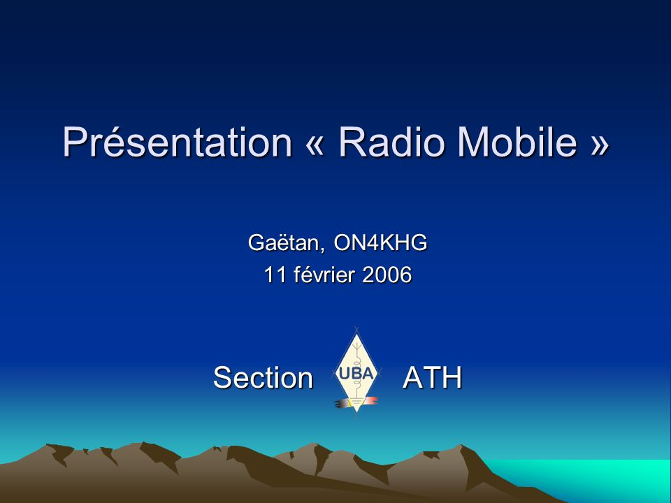 Présentation « Radio Mobile »