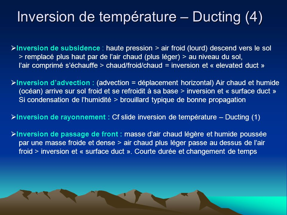 Inversion de température – Ducting (4)