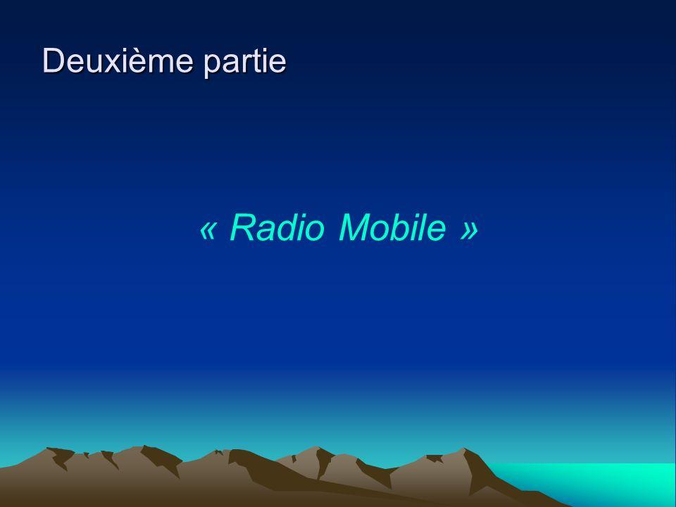 Deuxième partie « Radio Mobile »