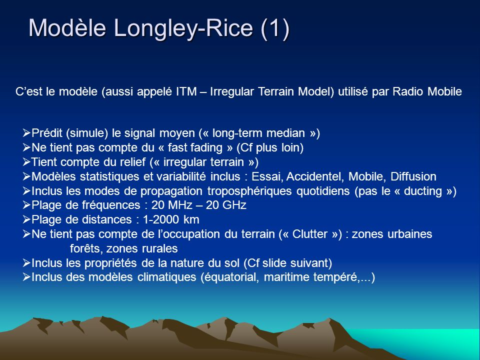Modèle Longley-Rice (1)