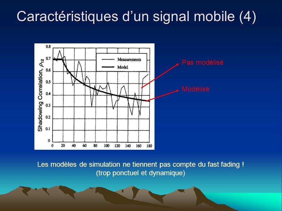 Caractéristiques d'un signal mobile (4)