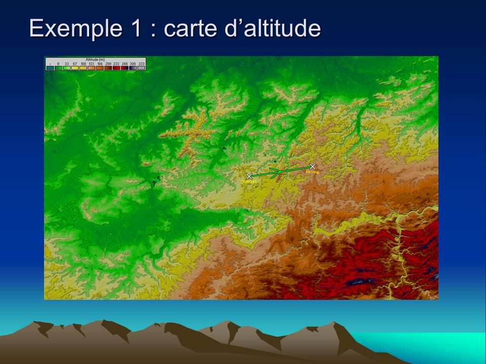 Exemple 1 : carte d'altitude