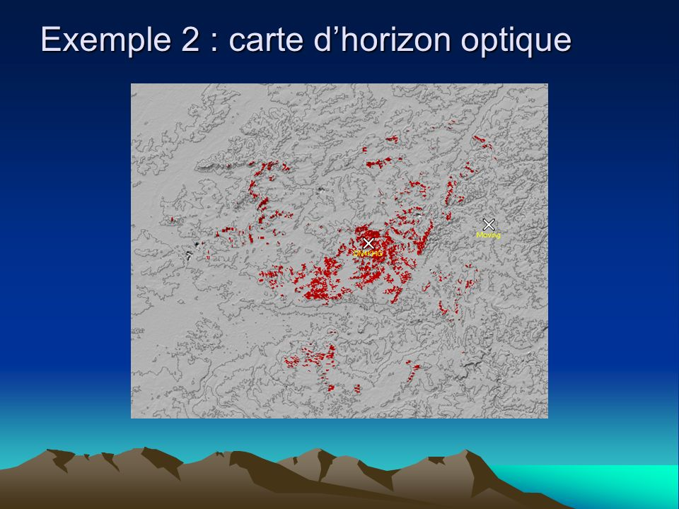 Exemple 2 : carte d'horizon optique