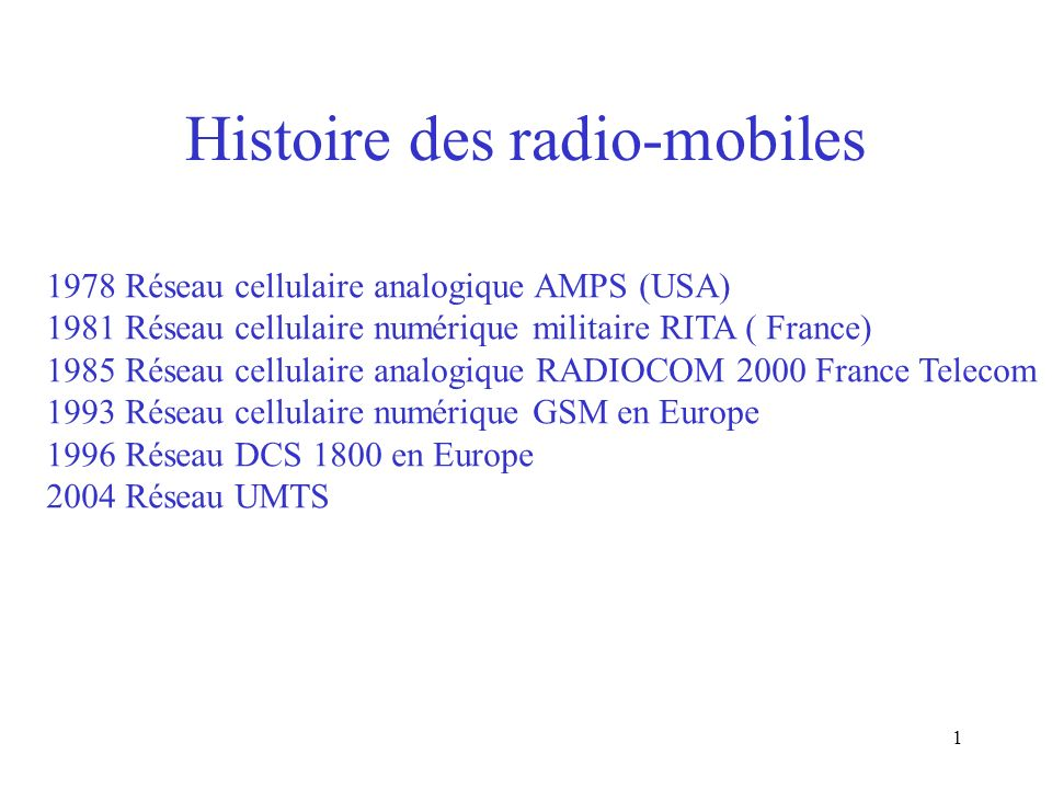 Histoire des radio-mobiles
