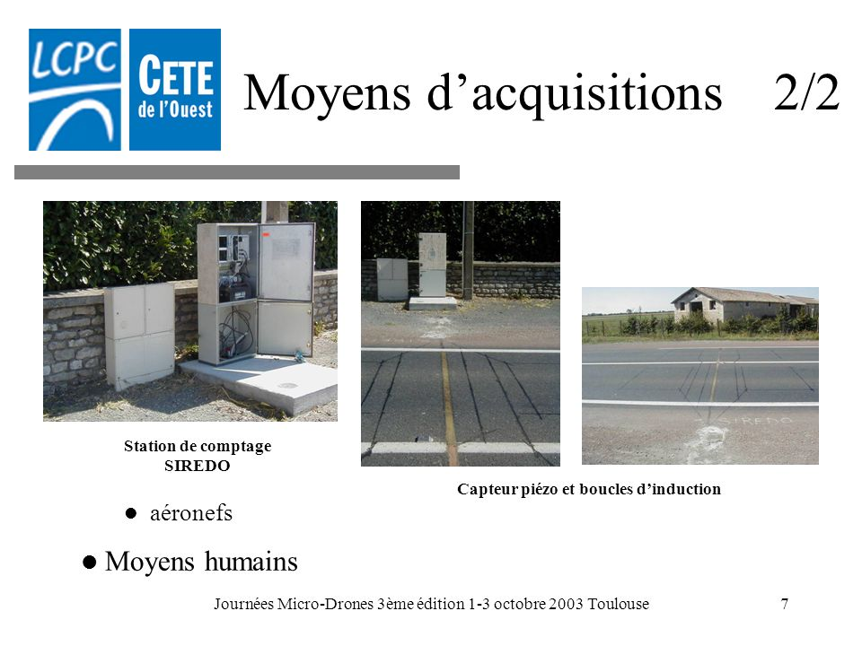 Moyens d'acquisitions 2/2