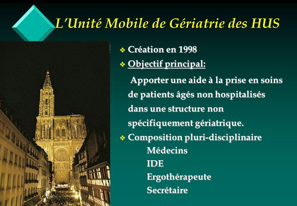 L'Unité Mobile de Gériatrie des HUS