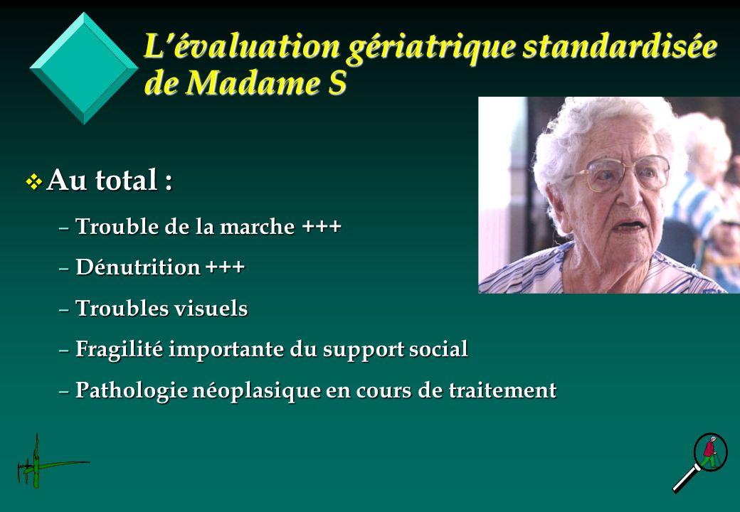 L'évaluation gériatrique standardisée de Madame S