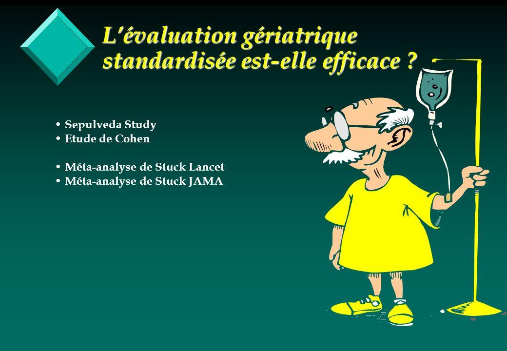 L'évaluation gériatrique standardisée est-elle efficace