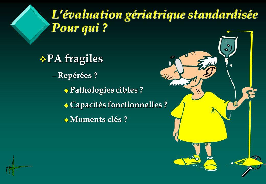 L'évaluation gériatrique standardisée Pour qui