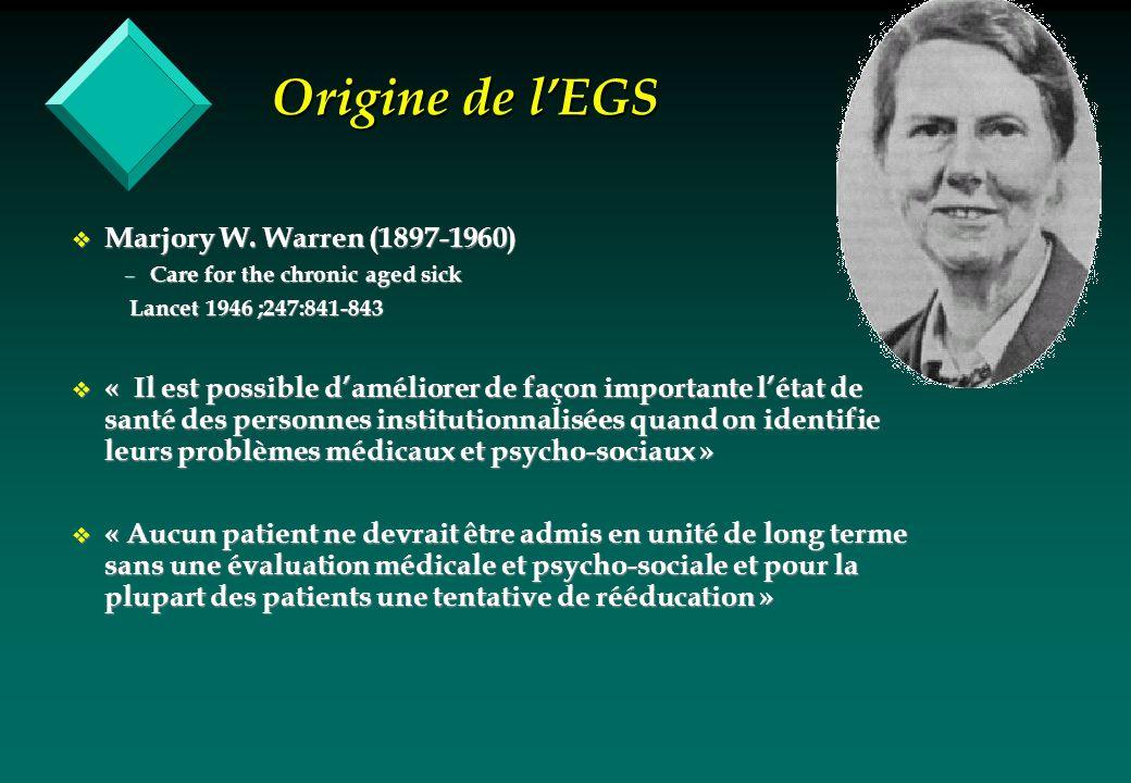 Origine de l'EGS Marjory W. Warren (1897-1960)