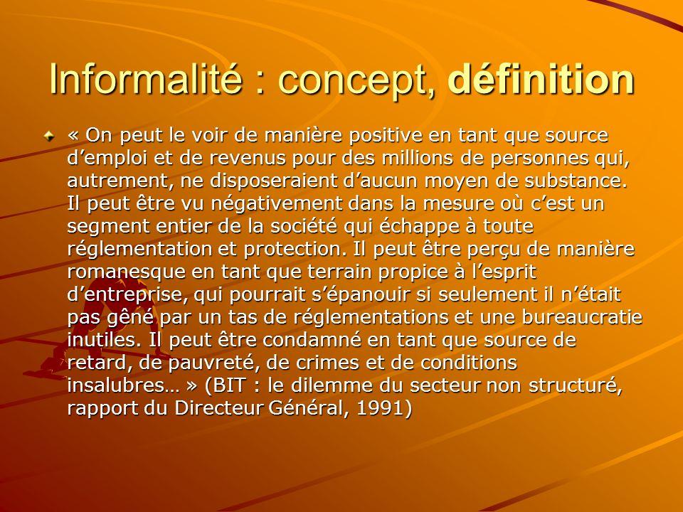 Informalité : concept, définition