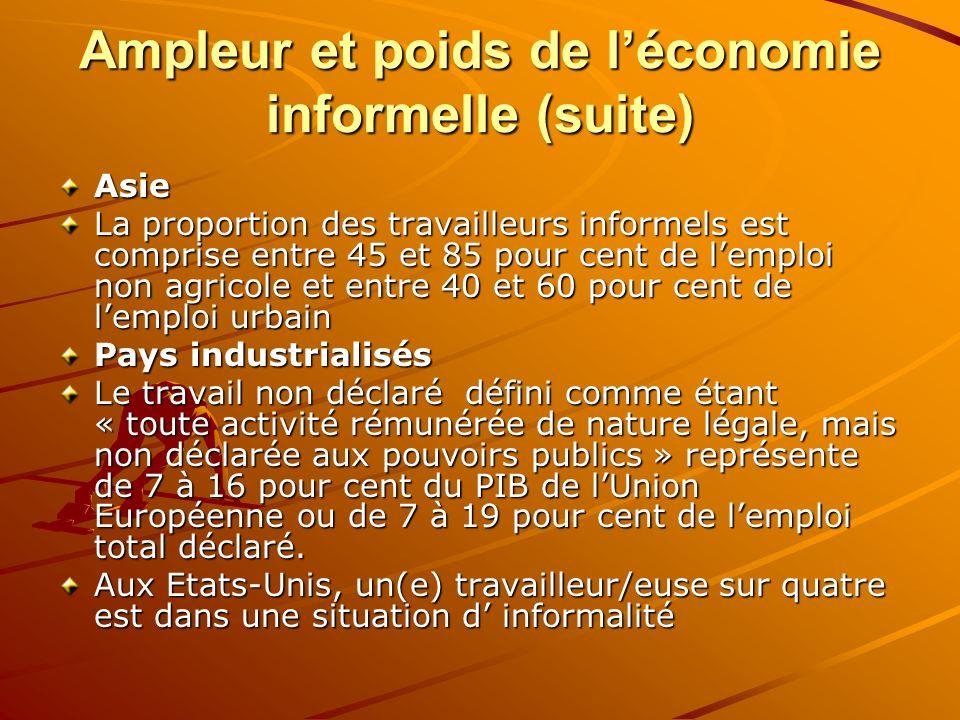 Ampleur et poids de l'économie informelle (suite)