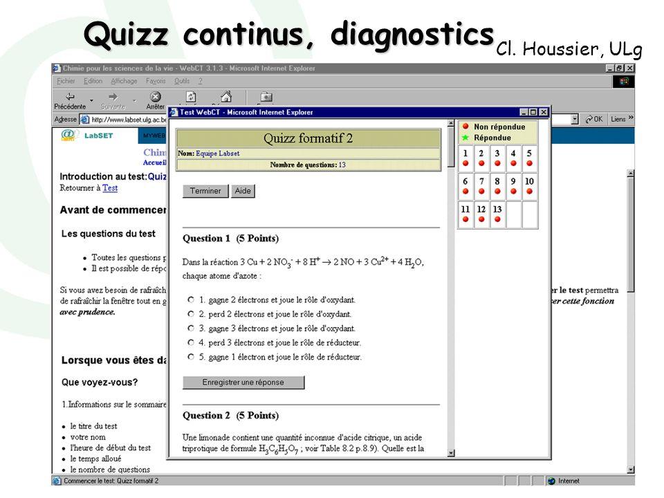 Quizz continus, diagnostics