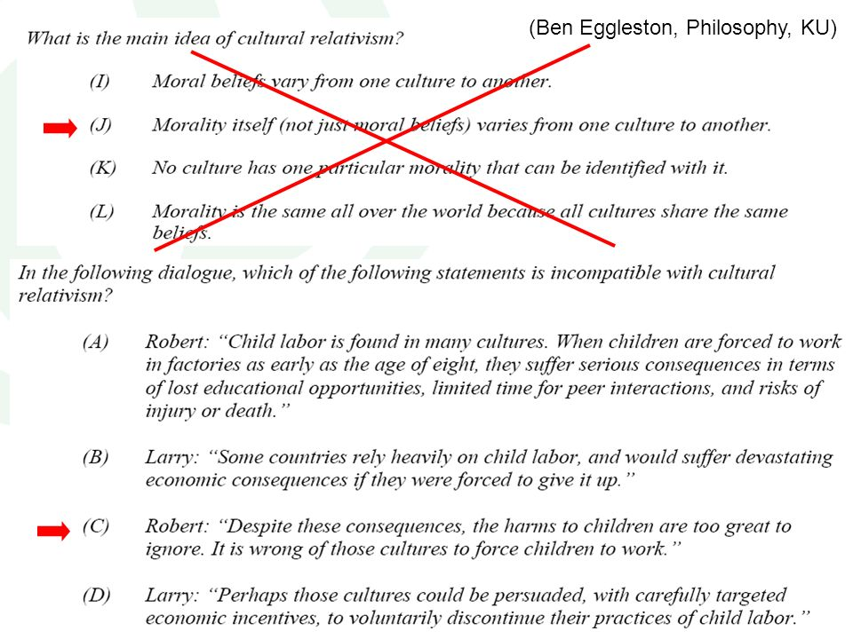 (Ben Eggleston, Philosophy, KU)