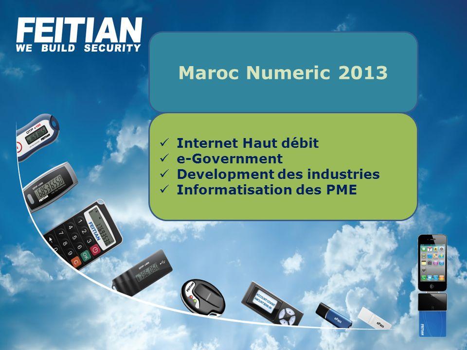 Maroc Numeric 2013 Internet Haut débit e-Government
