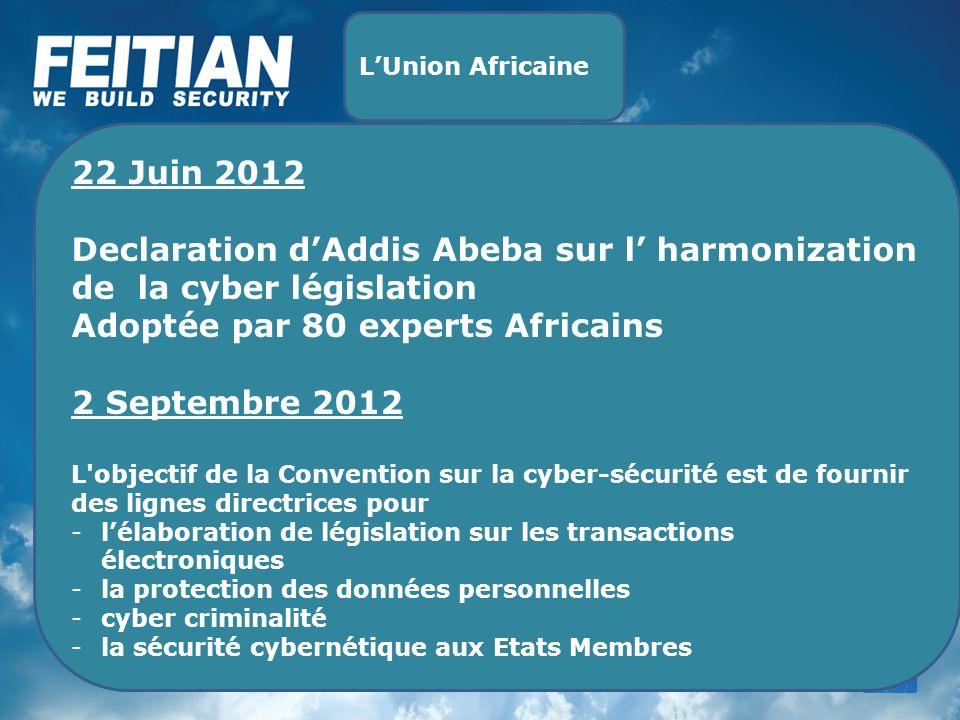 Declaration d'Addis Abeba sur l' harmonization de la cyber législation