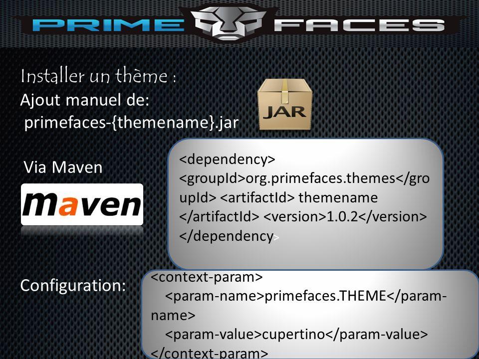 Installer un thème : Ajout manuel de: primefaces-{themename}.jar