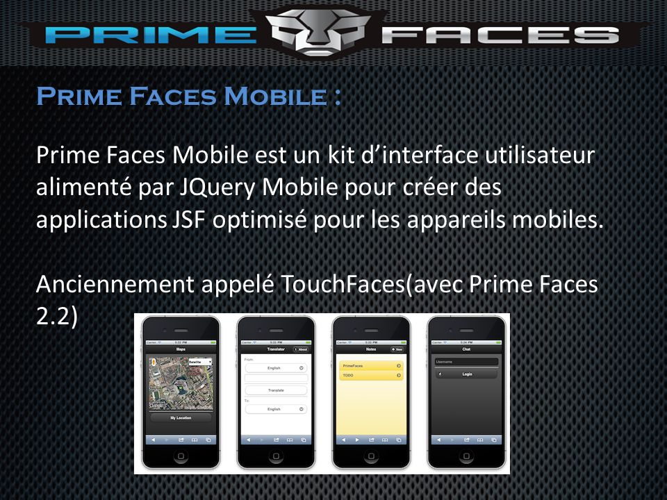 Prime Faces Mobile :