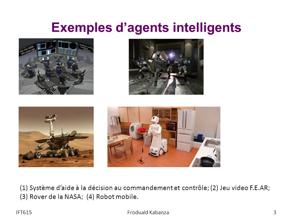 Exemples d'agents intelligents