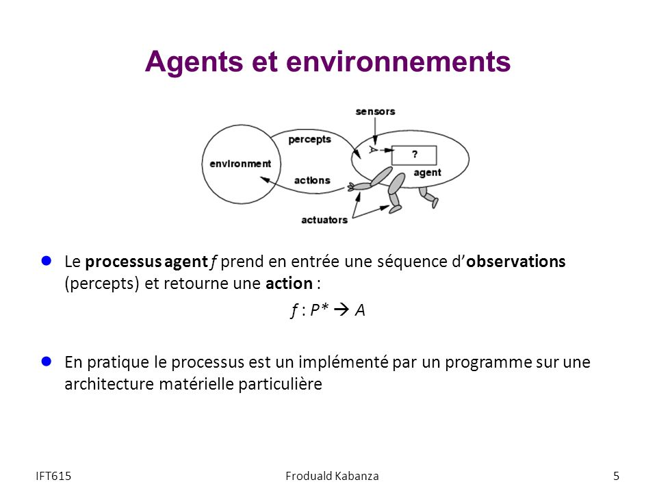 Agents et environnements