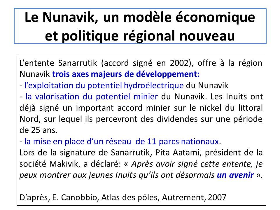 Le Nunavik, un modèle économique et politique régional nouveau