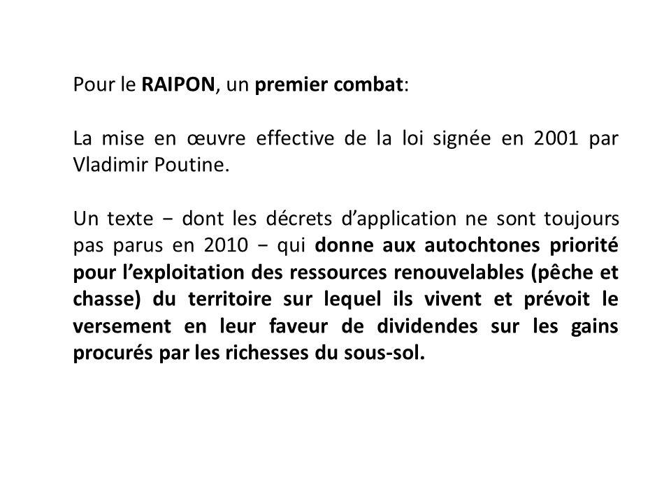 Pour le RAIPON, un premier combat: