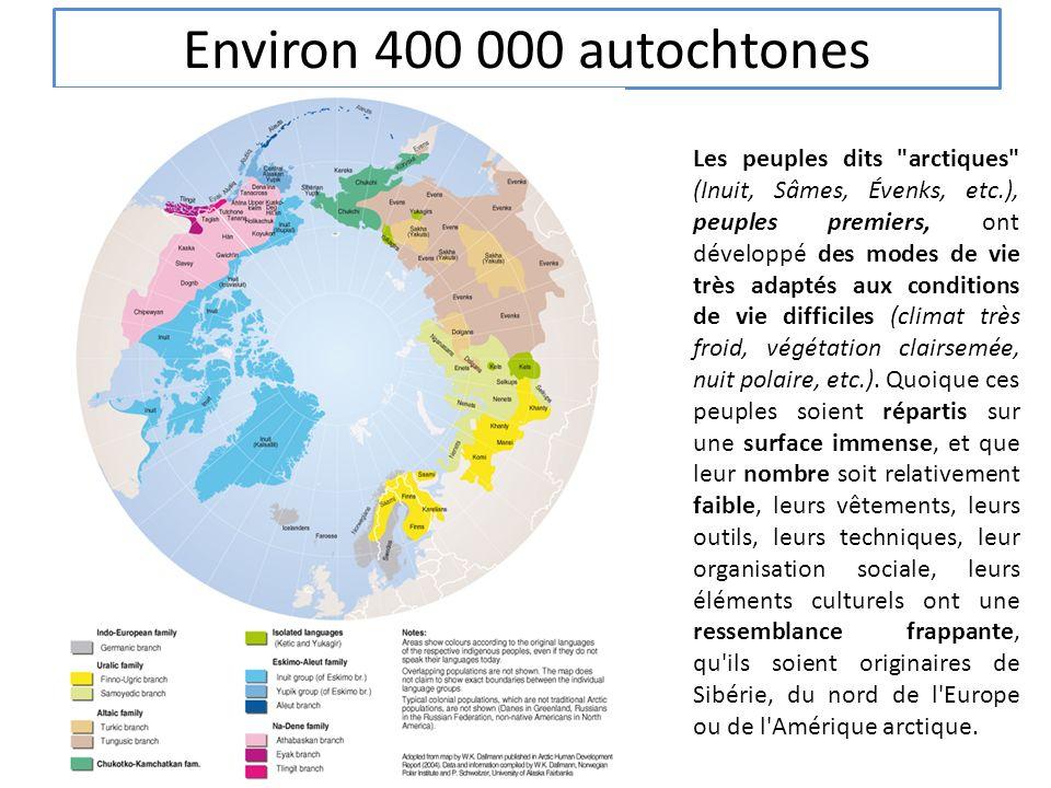 Environ 400 000 autochtones