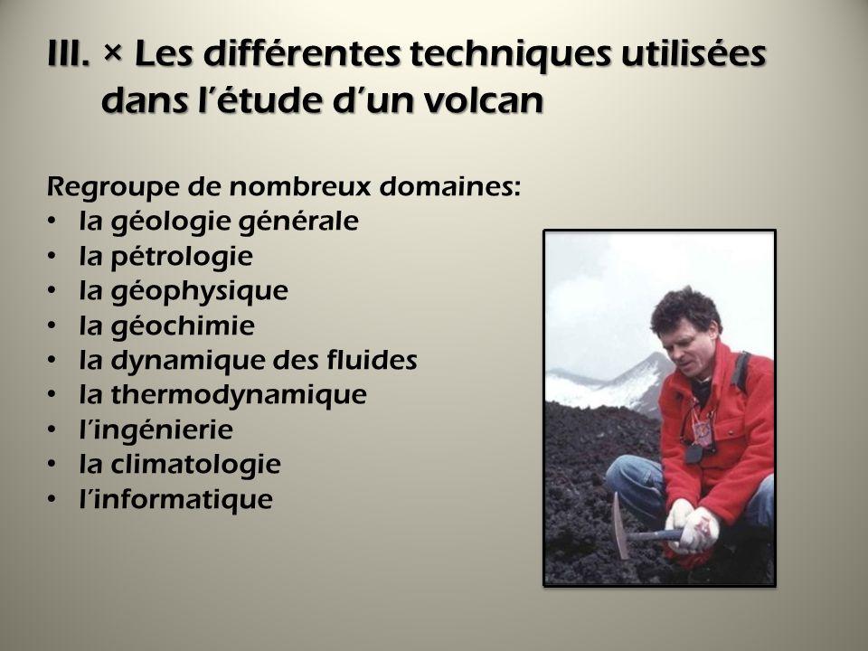 × Les différentes techniques utilisées dans l'étude d'un volcan