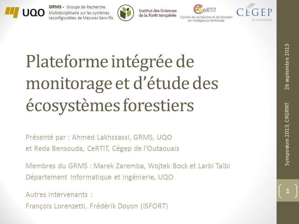 Plateforme intégrée de monitorage et d'étude des écosystèmes forestiers
