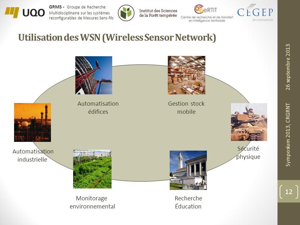 Utilisation des WSN (Wireless Sensor Network)
