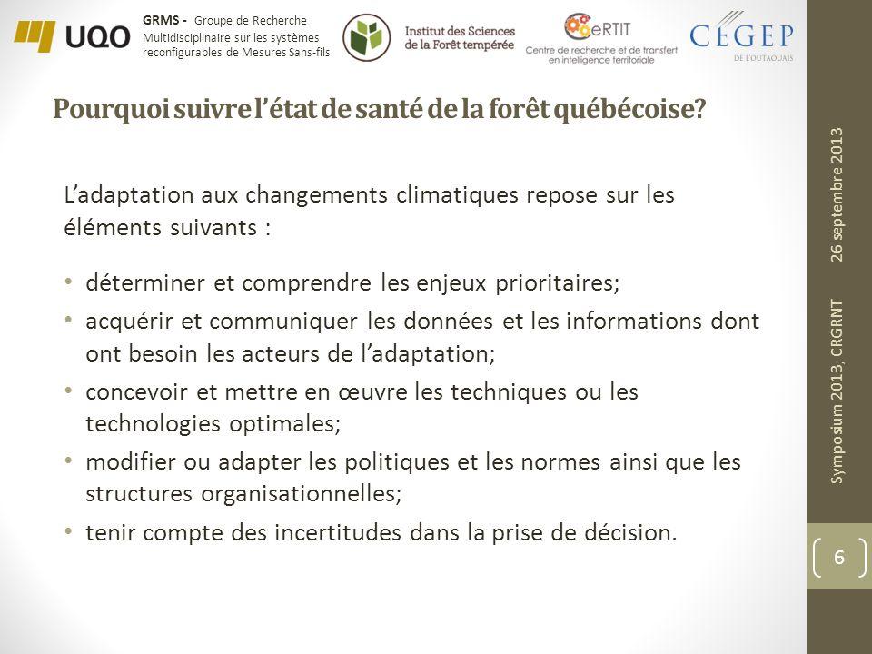 Pourquoi suivre l'état de santé de la forêt québécoise