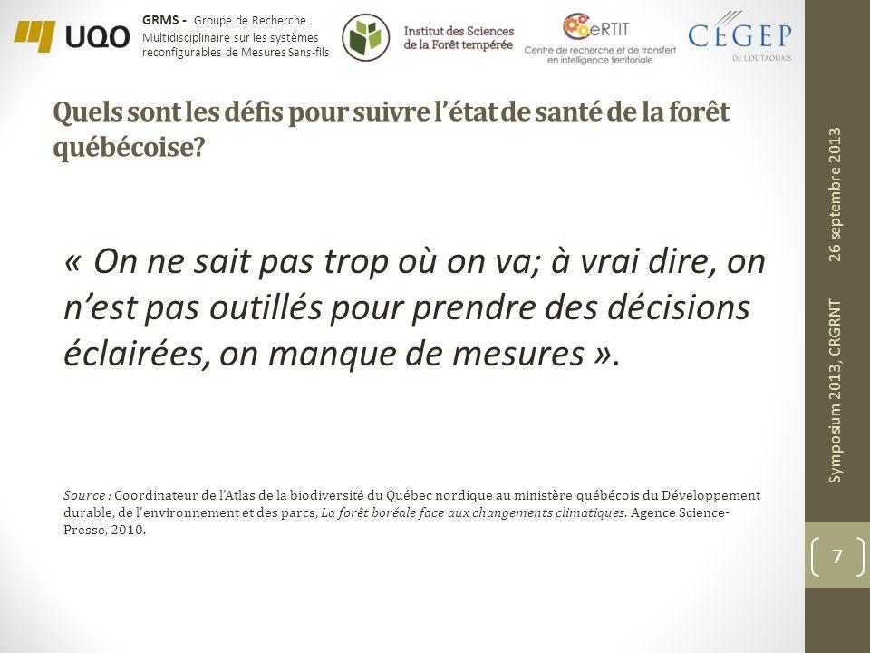 Quels sont les défis pour suivre l'état de santé de la forêt québécoise