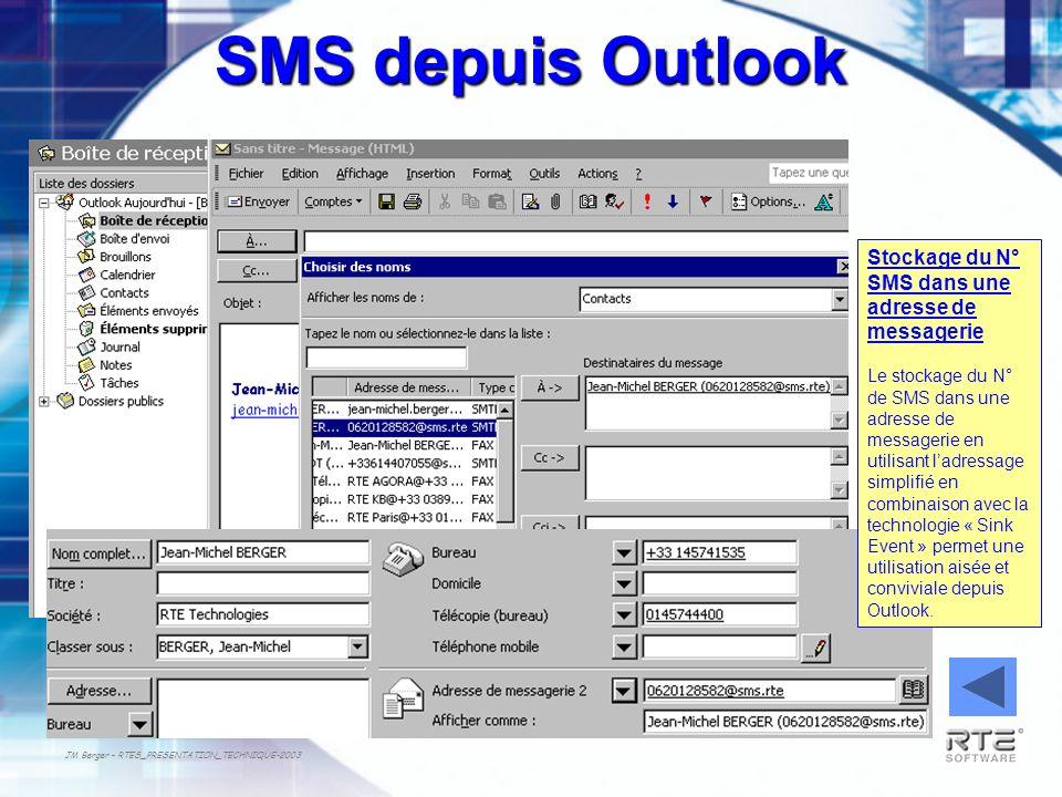 SMS depuis Outlook Stockage du N° SMS dans une adresse de messagerie